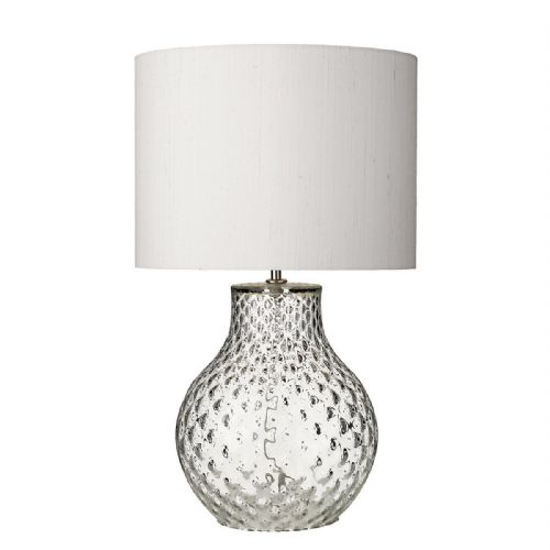Azores Table Lamp Clear Dimpled Glass Small Base Only (Hand made, 7-10 day Delivery)